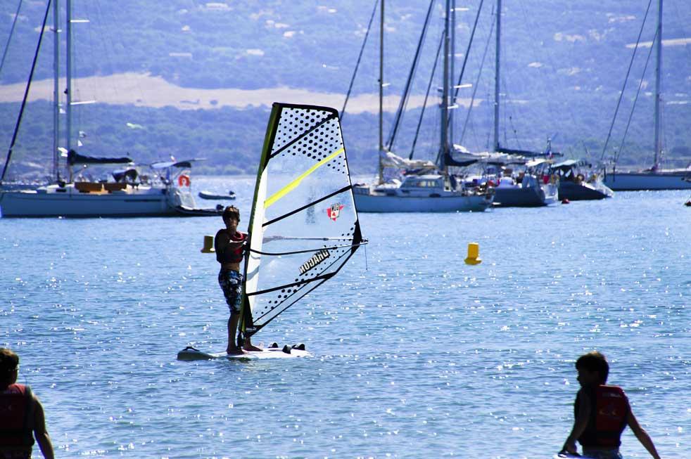 Korsische nautische Campingaktivität
