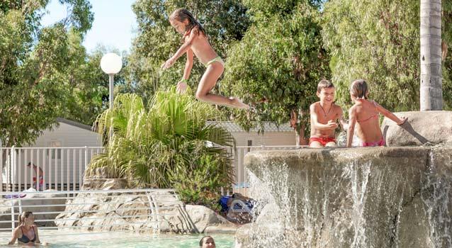 amusement pour enfants au camping Corse