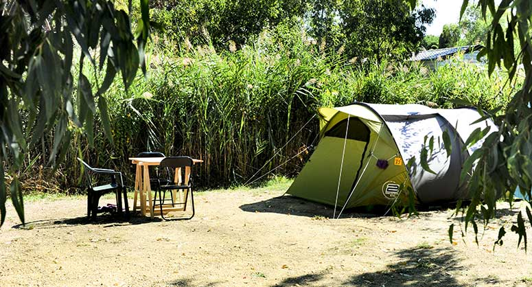 Camping Korsika Unterkunft Castor Caravan Zelt