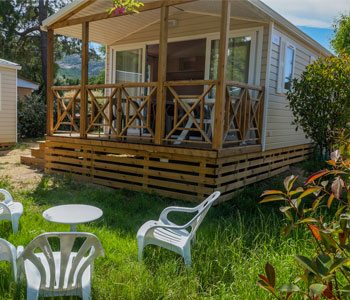 location mobil home camping corse