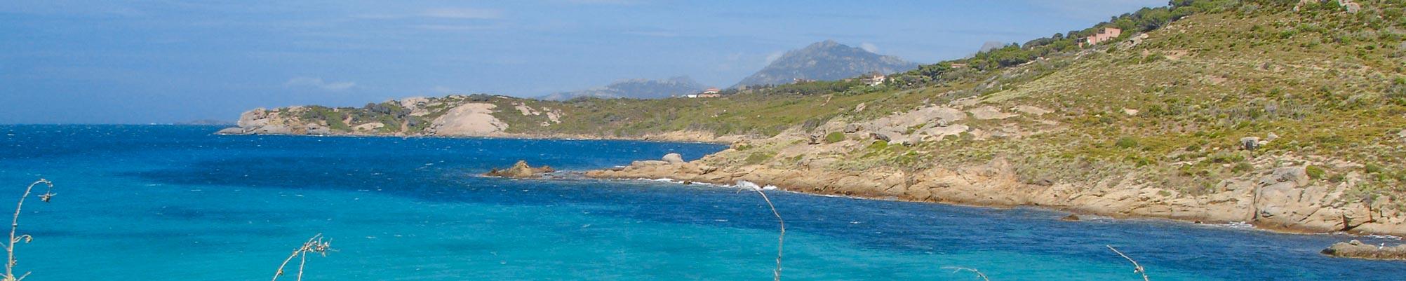 Calvi Landschaft in der Nähe von Camping-Korsika